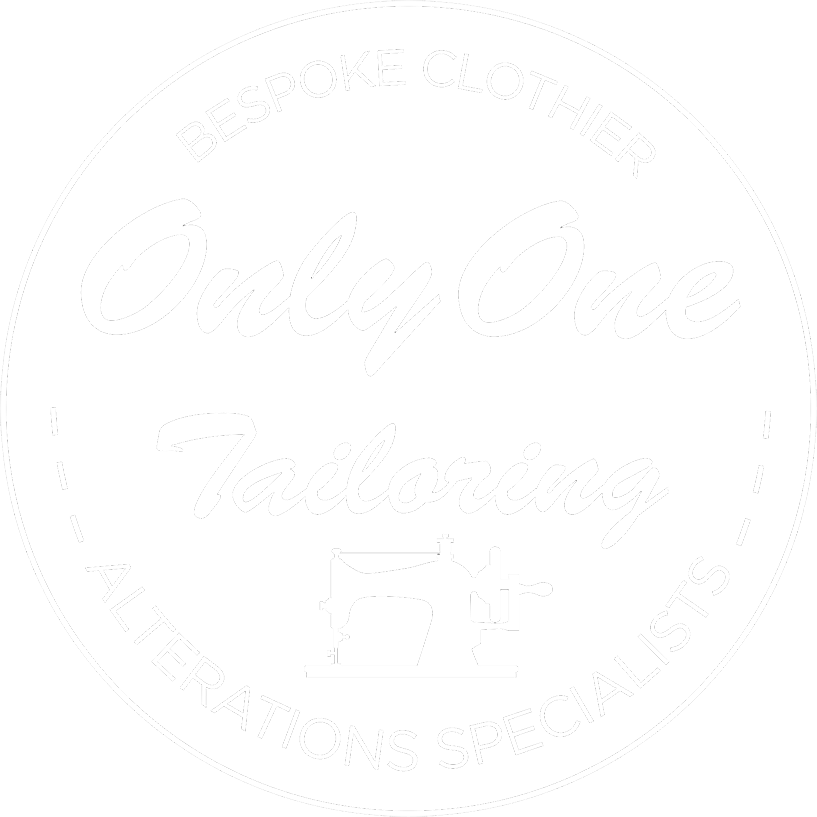 only one tailoring logo in white